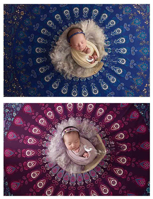 Round Newborn Photography Blanket Photo Cloth Prop