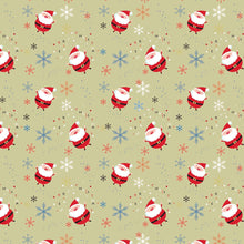 Santa Claus And Snowflakes Photography Backdrop A