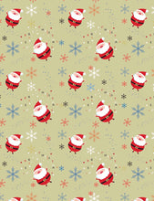 Santa Claus And Snowflakes Photography Backdrop