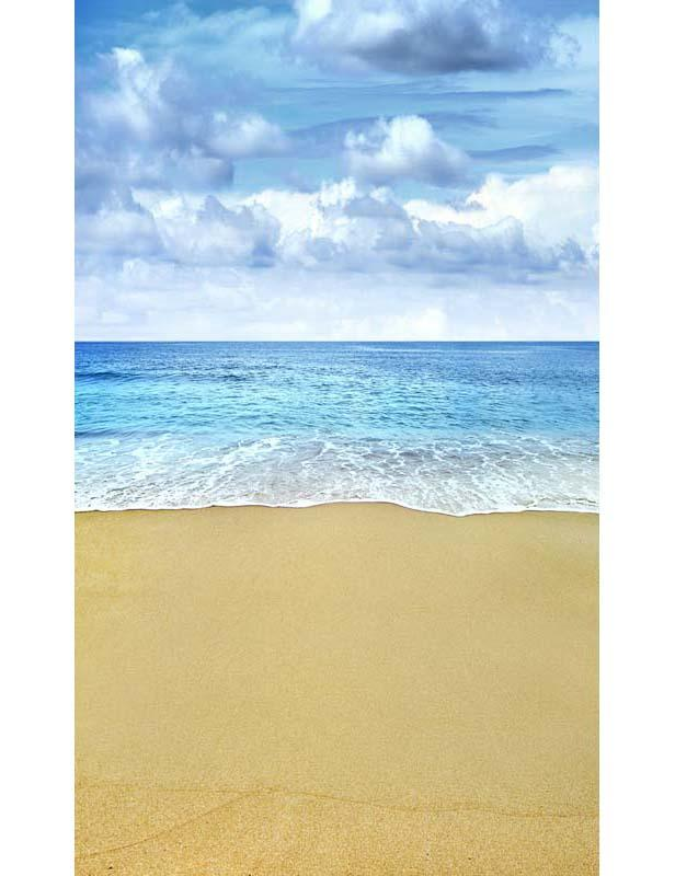Sea Sandy Beach Photography Backdrop For Kids Holiday F-2608