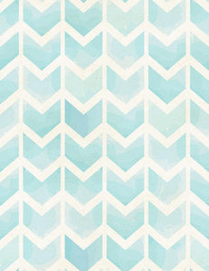 Seamless Geometric Watercolor Chevron Pattern On Paper Texture Photography Backdrop J-0054