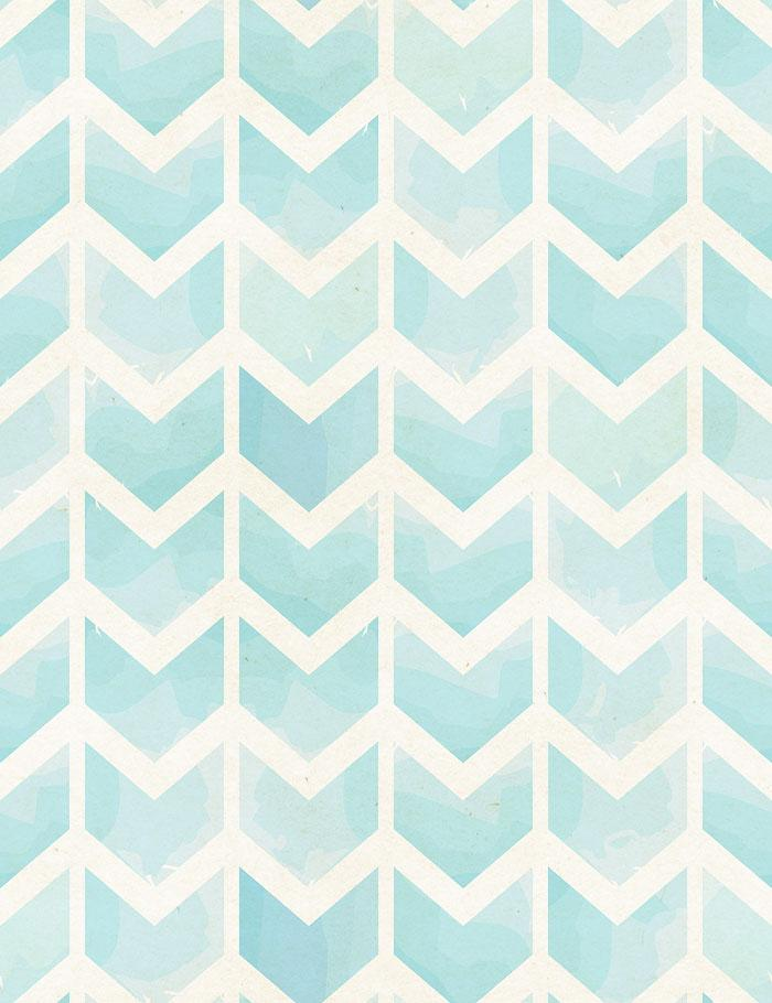 Seamless Geometric Watercolor Chevron Pattern On Paper Texture Photo Inspiration Cheveron Pattern