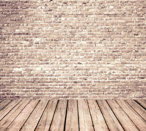 Senior Red Brick Wall Texture With Old Wood Floor Backdrop For Photography