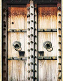 Senior Wood Door With Forged Metal Decoration Photography Backdrop