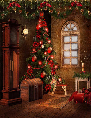 Seniro Chritsmas Decorations Interior Holiday Photography Backdrop J-0650