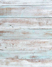 Senor Powder Blue Painted Wood Floor Photography Backdrop