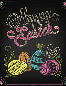 Chalkboard Printed Happy Easter Photography Backdrops - Shop Backdrop
