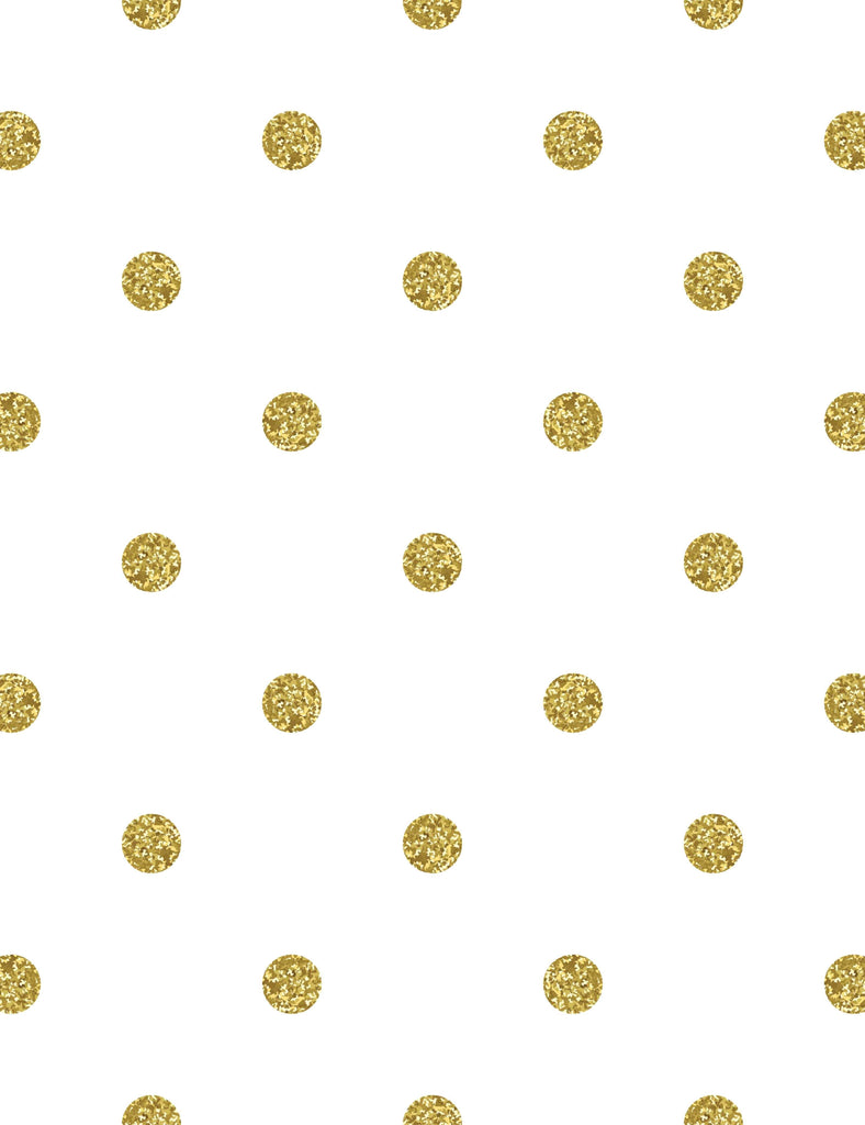 Gold Polka Dots Printed White Wall Background Photography Backdrop - Shop Backdrop