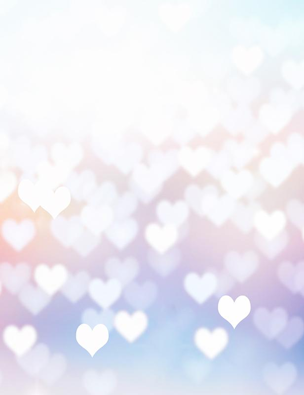 Silver Bokeh Heart For Valentines Day Photography Backdrop