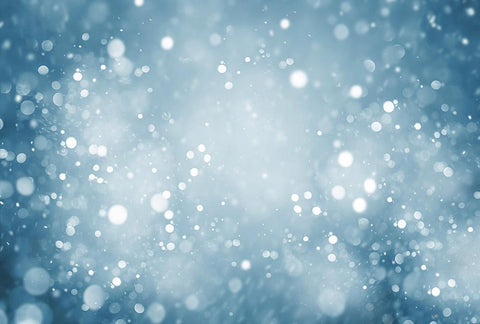 Silver Bokeh WIth Blue Background Photography For Holiday N-0025