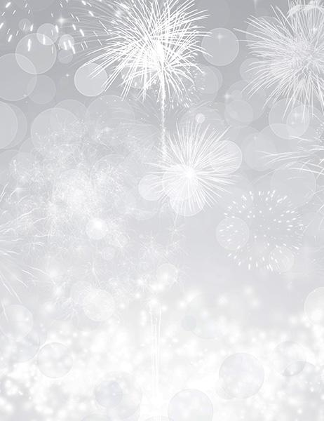 Silver Fireworks With Sparkle Gray Sky For New Year Photography  Backdrop J-0278