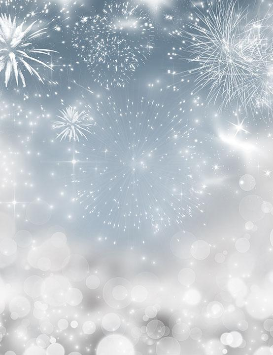Silver Sparkle Fireworks Photography Backdrop For New Year J-0274