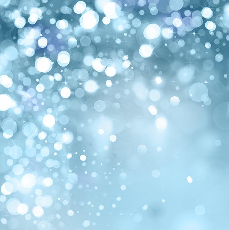 Silver Sparkle With Blue Bokeh Backgroud For Holiday Photography Backdrop J-0265