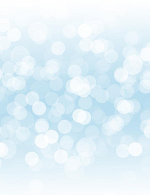 Silver Sparkles Bokeh For Holiday Photography Backdrop
