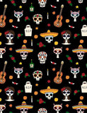 Skull Cat Gitta Printed For Day Of Death Photography Backdrop J-0534