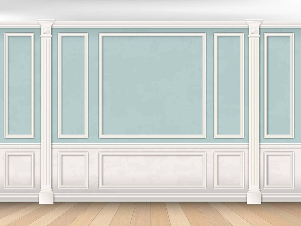 Sky Blue Palace Wall Photography For Baby Backdrop