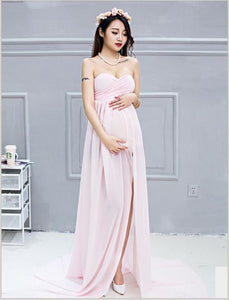 Sleeveless Chiffon Maternity Dress Photo Prop(Multi-color Optional)