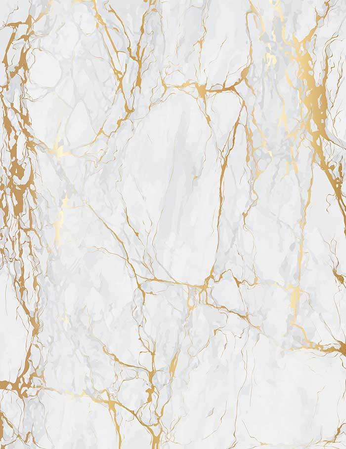 Smoke White Marble With Golden Texture Photograohy Backdrop J-0197