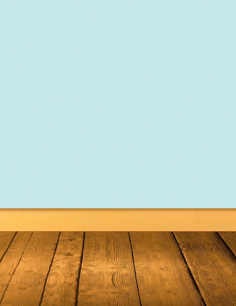 Solid Aqua Blue Wall With Wood Floor Backdrop For Photography