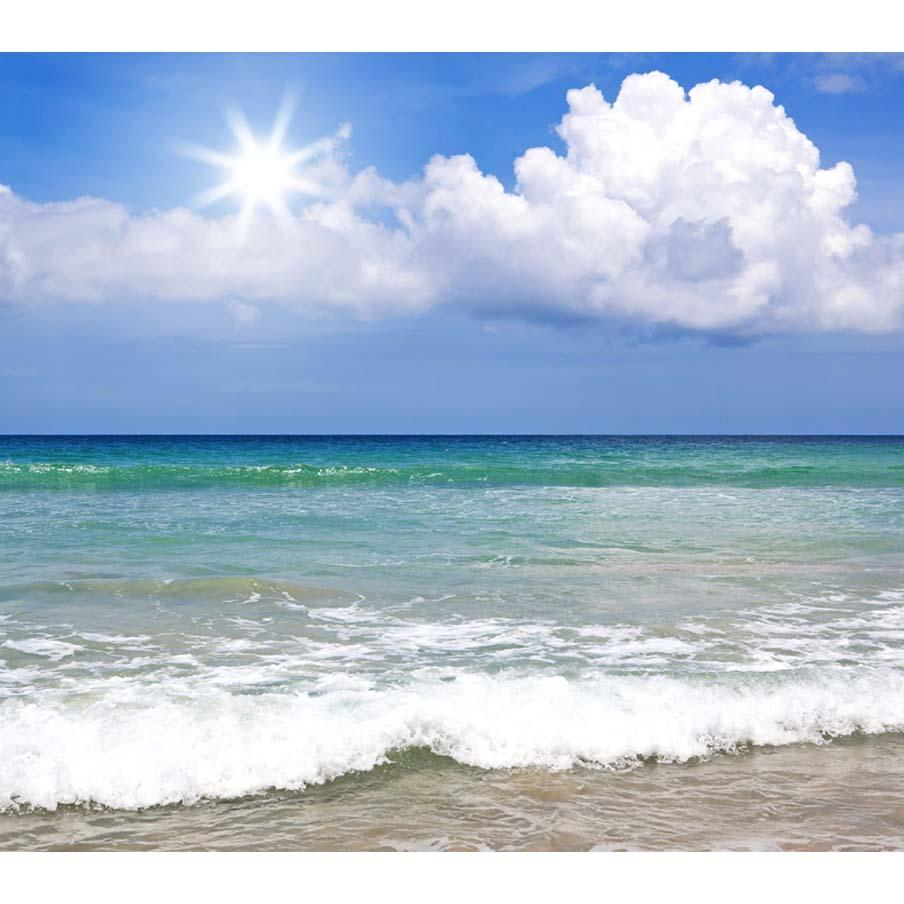 Spindrift Blue Sea Beautiful Sky Summer Holiday Photography Backdrop