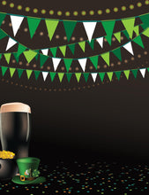 St. Patrick's Colorful Flags Green Hat Black Background Photography Backdrop