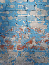 Texture Senior Blue Brick Wall Printed Old Master Photo Backdrop Studio