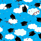 Toss Grad Hats To Blue Sky Background Photography Backdrop