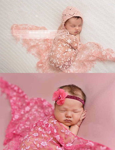 Tulle Imitated Silk Fabric Newborn Wrap Photo Prop(Multi-color Optional)