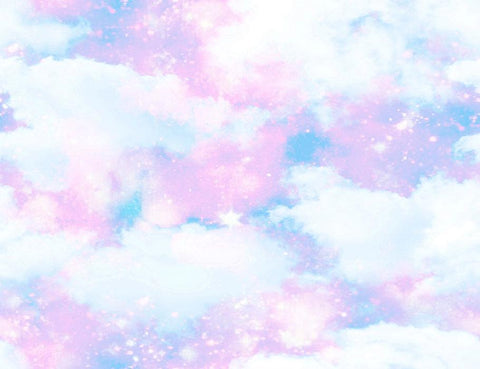 Unicorn Clouds For Baby Birthday Photography Backdrop J-0208