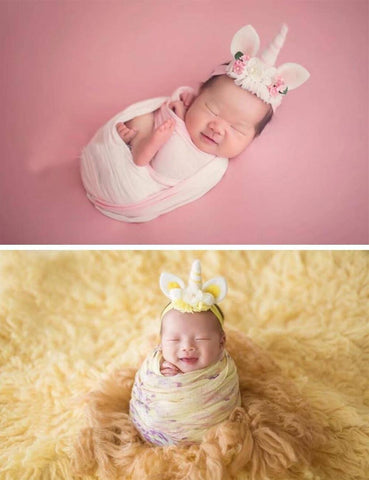 Unicorn Ears Newborn Headband Photogrpahy Props