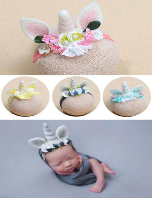 Unicorn Ears Newborn Headband Photography Props