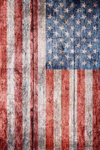 USA Flag Printed On Wood Floor Backdrop For Photography