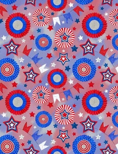 USA Flags Pinwheel For Celebrate Independence Day Fabric Backdrop Photography  J-0008
