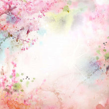 Watercolor Painted Spring Flower Photography Backdrop J-0472