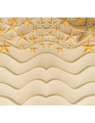 Wave Sand Starfish Summer Children Holiday Photography Backdrop F-2632