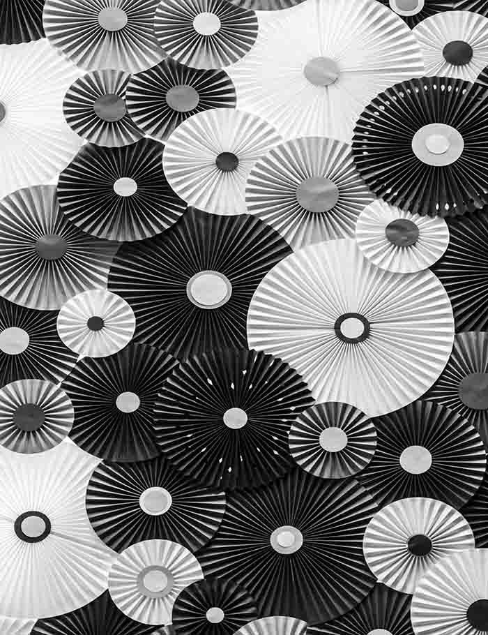 White And Black Pinwheel For Children Photography Backdrop J-0034