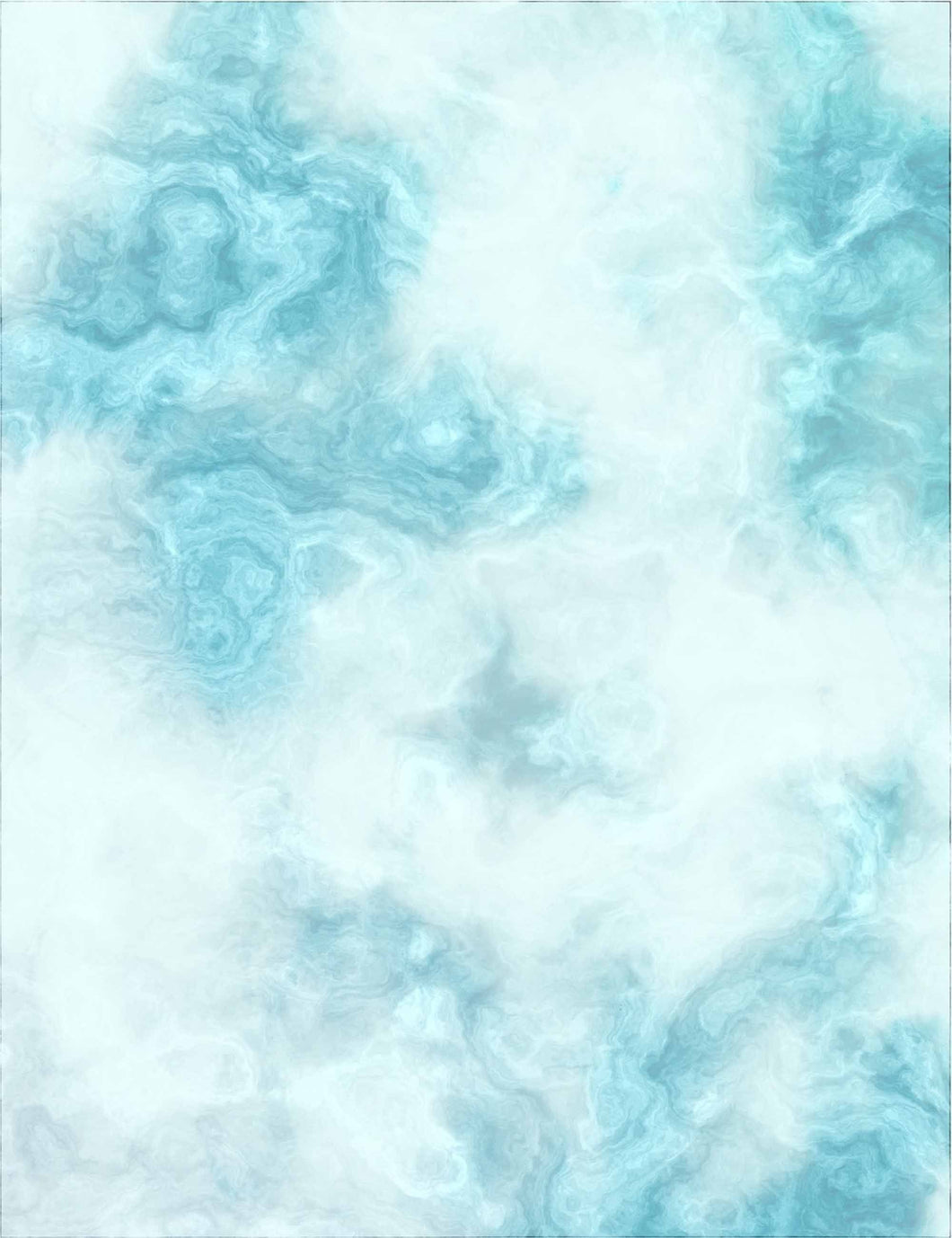 White And Cyan-Blue Watercolor Textured Printed Backdrop