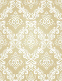 White Damask With Yellow Paper Wall Photography Backdrop J-0320