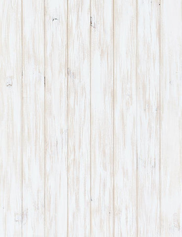 White Paint Wood Floor Texture Photography Backdrop J-0347
