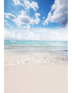 White Sand Beach Blue Sky Photography For Summer Holiday F-2630