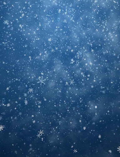 Winter Falling Snowflakes For Christmas Photography Backdrop J-0267