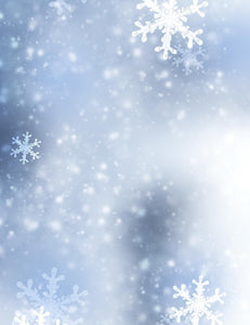 Winter Snowflake Bokeh Backdrop For Christmas Photography Q-0136