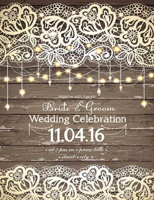 Wooden Painted Weeding Celebrate Custom Backdrop For Photography J-0072
