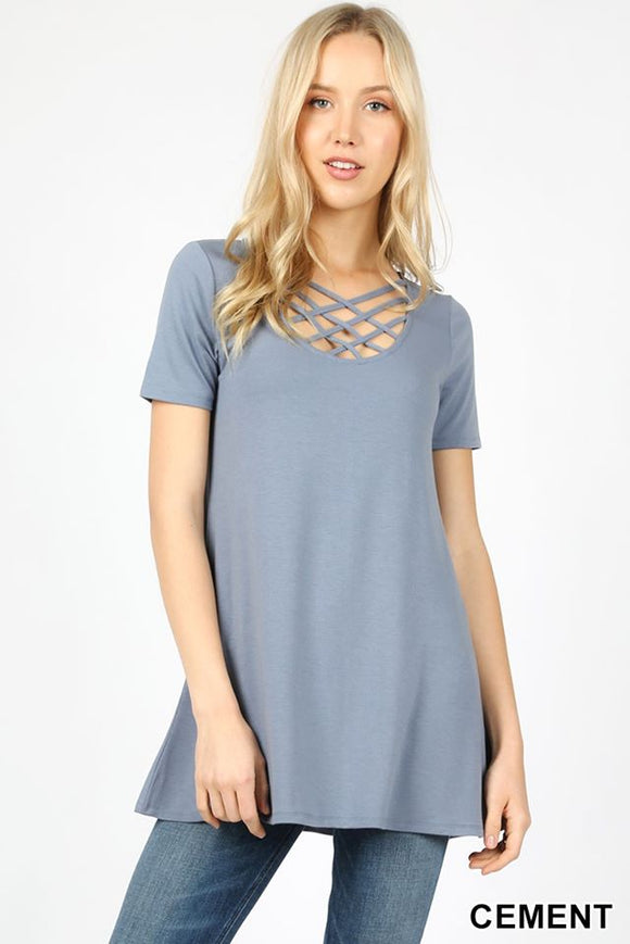 Cement Grey lattice ss top