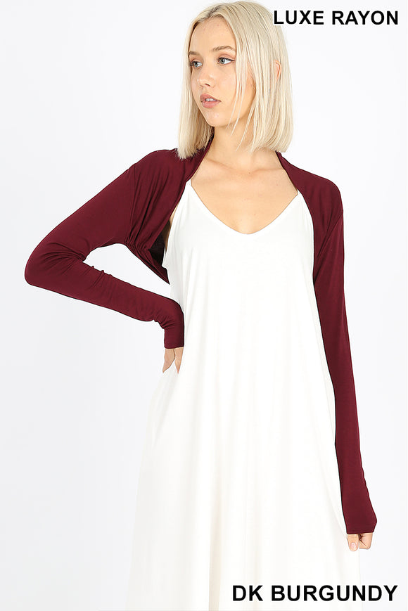 Long sleeve bolero Dark Burgundy