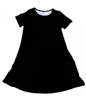 Black Solid Charley dress