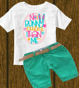 No bunny cuter (kids, Raglan & more colors available)