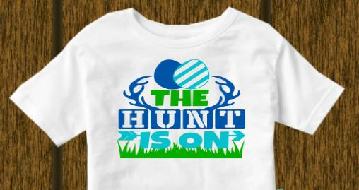 The hunt is on! (kids, Raglan & more colors available)