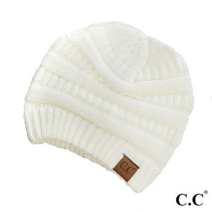 "C.C.""the original"" beanie white"