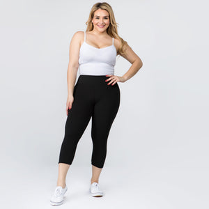 Black solid leggings (regular and capri)